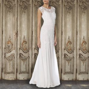 Raishma Net Lace Embellished Gown White
