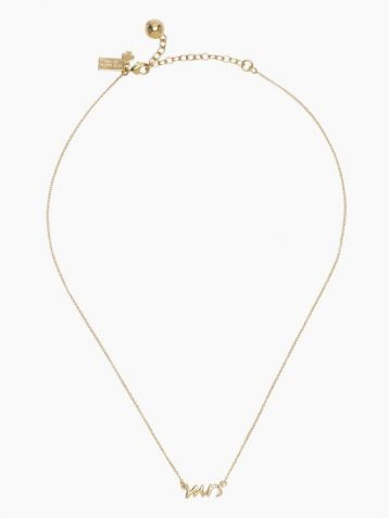 Kate Spade Say Yes 'Mrs' Necklace Gold