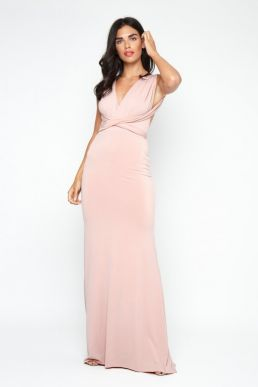 TFNC Multi Way Mauve Maxi Dress Pink