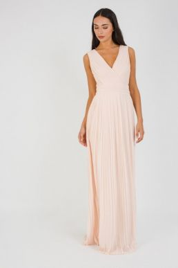 TFNC Stella Nude Bridesmaid Maxi Dress
