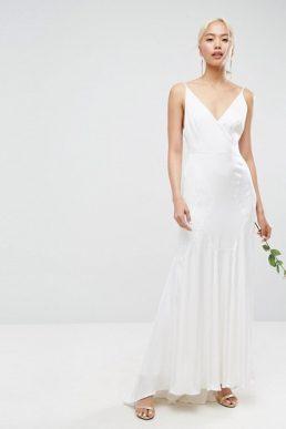 dcd860e69c6 ASOS BRIDAL Cami Maxi Dress with Panelled Seam Details Cream