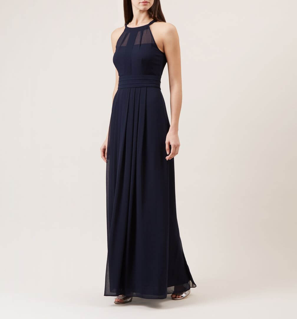 Hobbs alexis maxi dress navy blue for Navy blue maxi dress for wedding