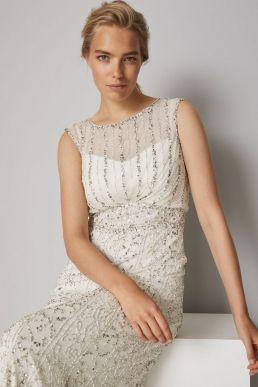 Phase Eight Hope Embellished Wedding Dress Ivory