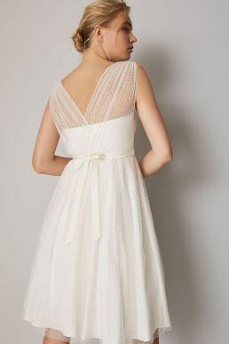 Phase Eight Mae Polka Dot Short Wedding Dress Ivory