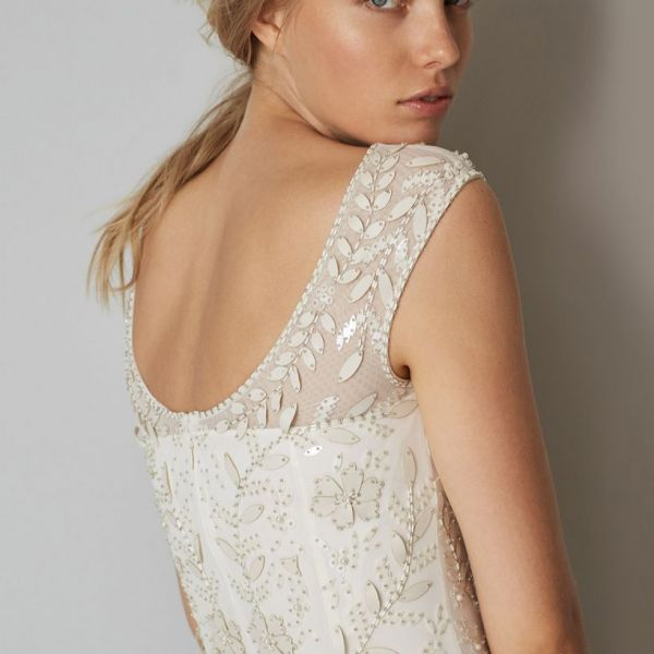 Phase Eight Sabina Embellished Wedding Dress, Ivory | myonewedding.co.uk