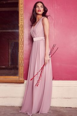 TFNC Kily Pale Mauve Maxi Dress Blush Pink