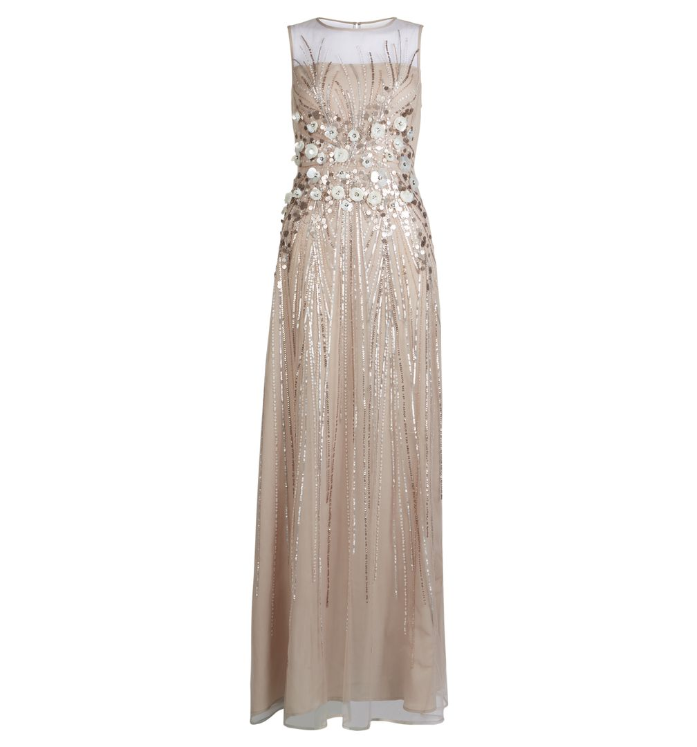 Hobbs Limited Edition Bronze Beatrice Bridesmaid Maxi Floral Dress