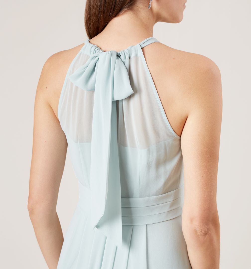 Hobbs Alexis Mint Bridesmaid Maxi Bow Dress