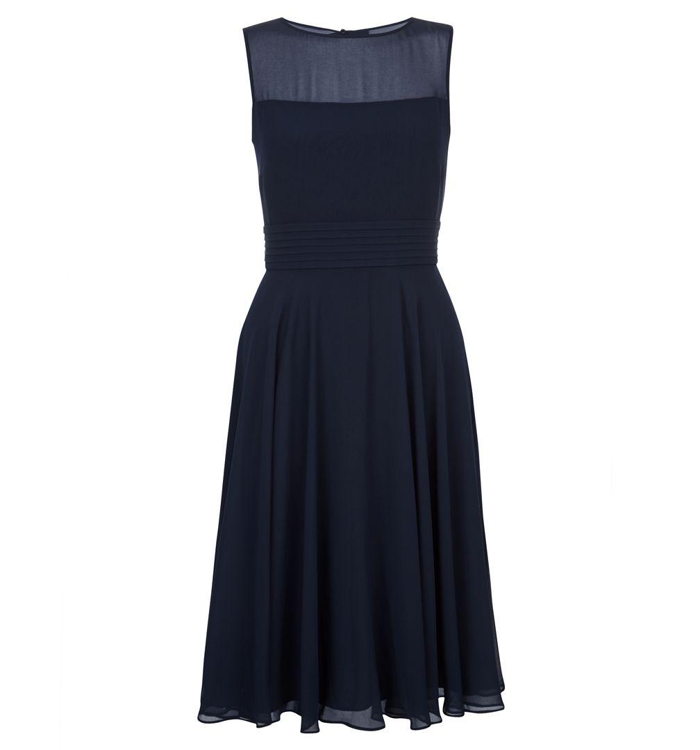Hobbs Ashling Navy Blue Bridesmaid Short Dress