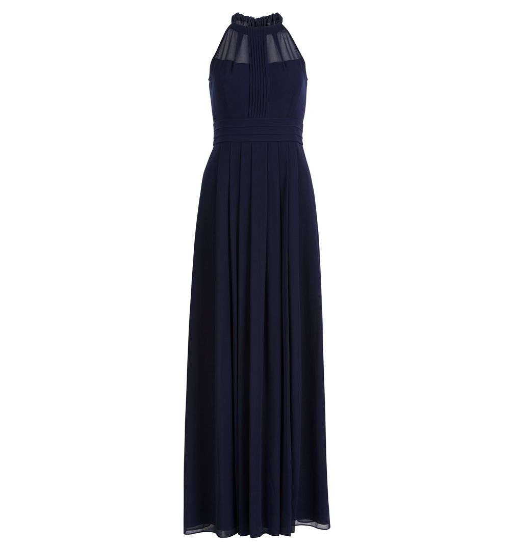 Hobbs Alexis Navy Blue Bridesmaid Maxi Bow Dress