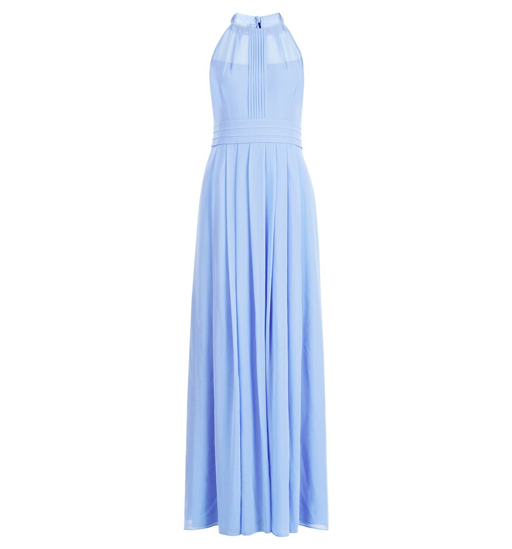 Hobbs Alexis Cornflower Bridesmaid Maxi Bow Dress