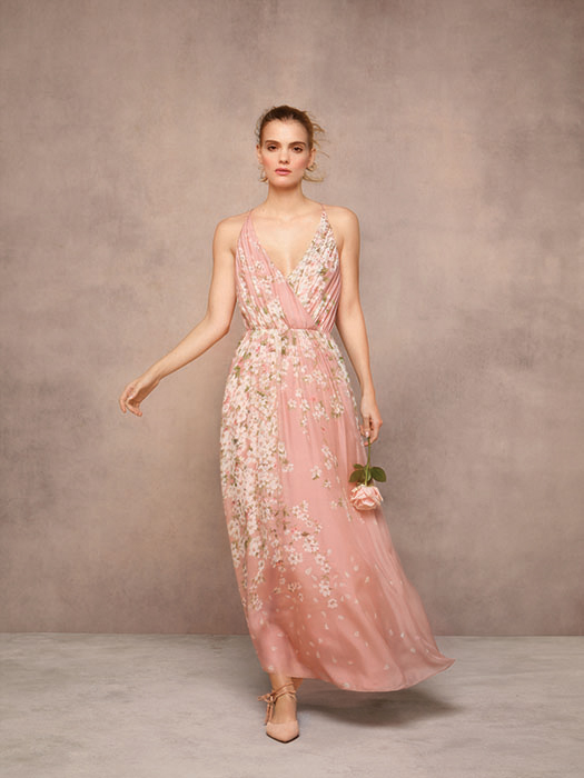 Hobbs Limited Edition Multi Pink Charlotte Bridesmaid Maxi Floral Dress