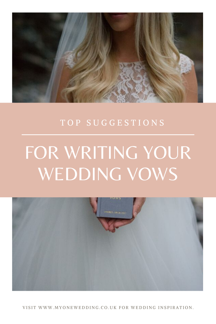 top tips for writing your wedding vowels