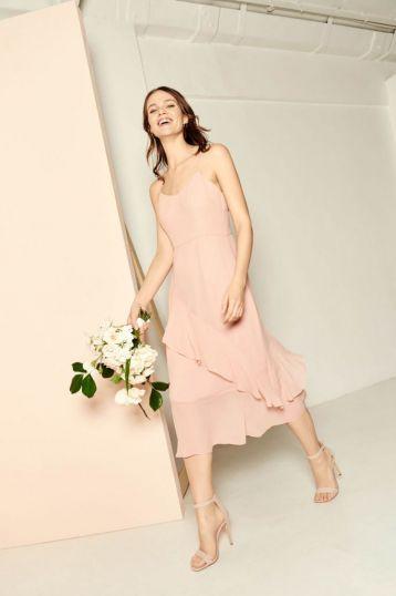Whistles Amber Frill Dress Pale Pink Blush