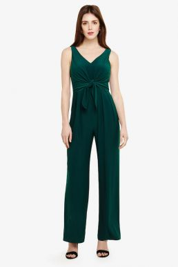 Phase Eight Angie Tie Front Jumpsuit Green