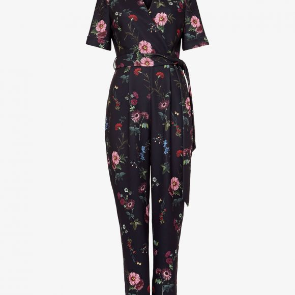 Phase Eight Alicia Floral Jumpsuit Multi Black