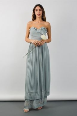 TFNC Glory Green Lily Bridesmaid Maxi Dress Green