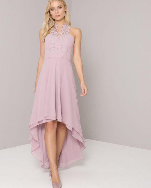 Chi Chi Allison Bridesmaid Lace Dress Lilac Purple