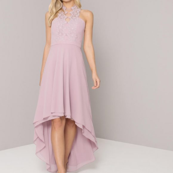 Chi Chi Allison Bridesmaid Lace Dress Lilac Purple