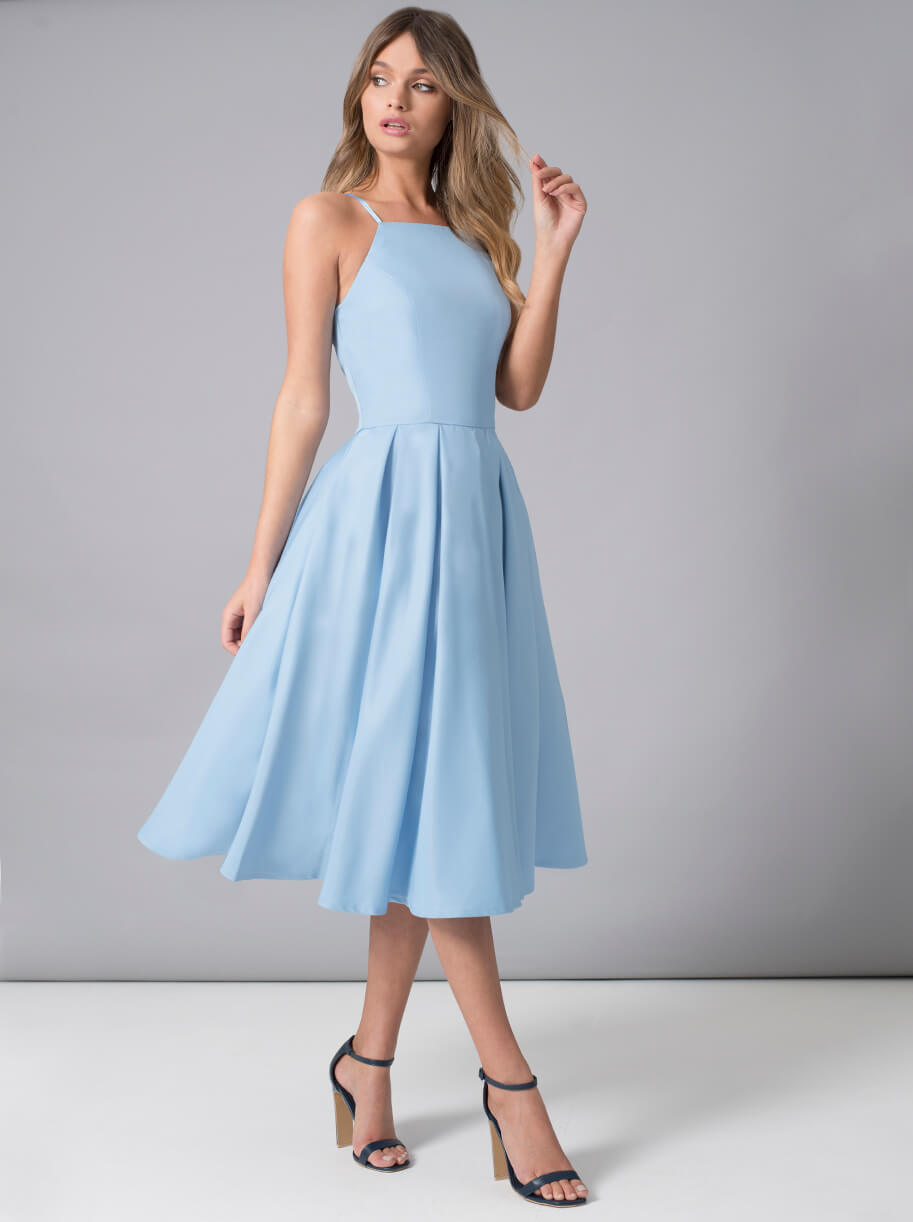 Chi Chi Benedetta Bridesmaid Dress, Pale Blue | myonewedding.co.uk