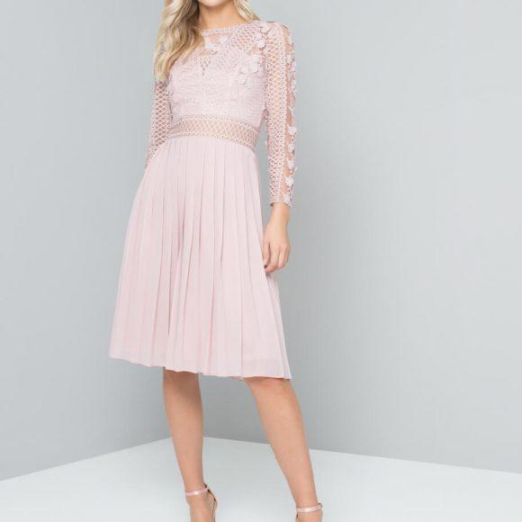 Chi Chi Koulla Short Bridesmaid Dress Blush Pink