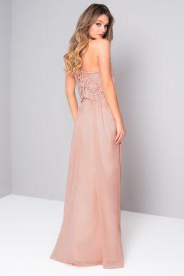 Chi Chi Lennah Lace Maxi Bridesmaid Dress Pink