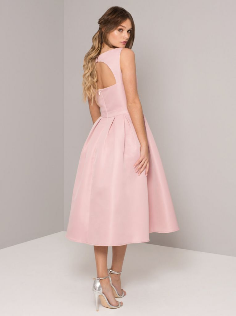 Chi chi adalyn short bridesmaid dress pink blush for Short blush pink wedding dresses