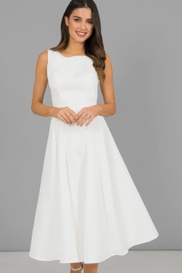 Chi Chi Short Denton Bridesmaid Dress White