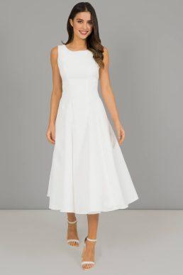 Chi Chi Short Denton Bridesmaid Dress White