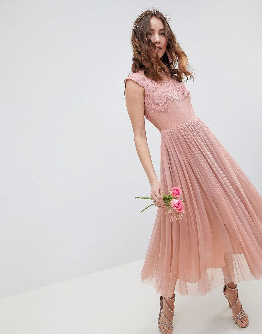 Pink Midi Dress