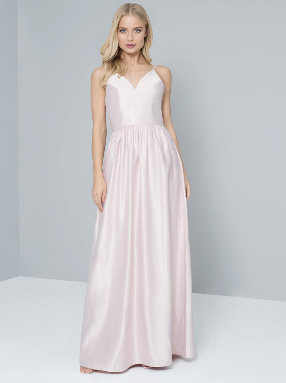 Chi Chi Carrie Bridesmaid Dress Pale Pink, Blush | myonewedding.co.uk