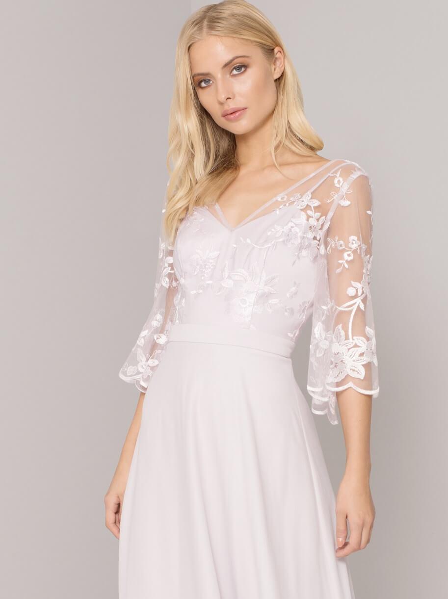 Chi Chi Shania Lace Bridesmaid Dress, Blush/Pink | myonewedding.co.uk
