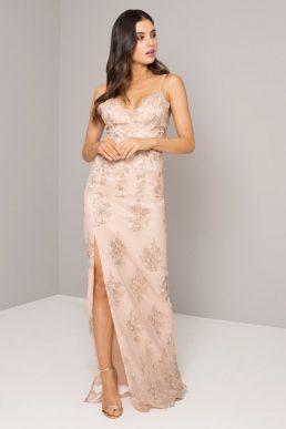 Chi Chi Betsie Maxi Dress Blush Rose Gold