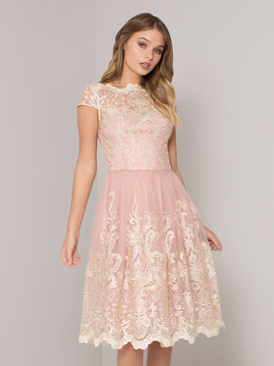 6c31fb75e43 Chi Chi Lilyan Lace Bridesmaid Dress Blush Pink. Chi Chi Lilyan Lace  Bridesmaid Dress Blush Pink