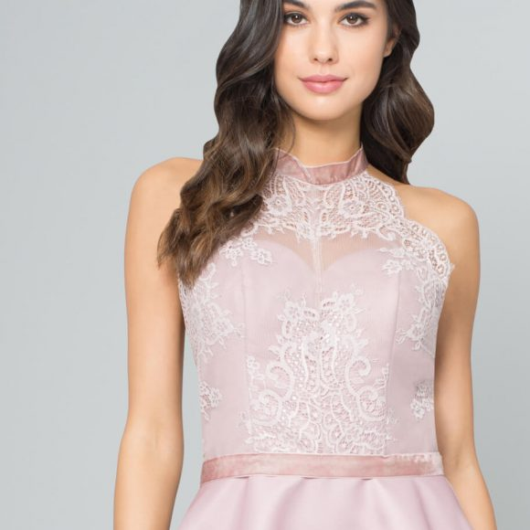 Chi Chi Sigrid Lace Short Bridesmaid Dress Blush Pink