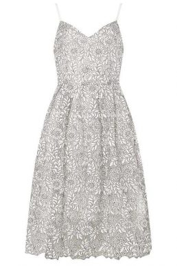Dorothy Perkins Monochrome Lace Prom Dress Black White