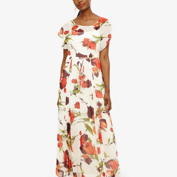 Phase Eight Candelia Print Maxi Dress Red White Multi
