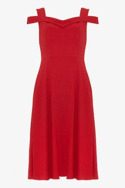 Phase Eight Gillenia Flared Bridesmaid Dress Red