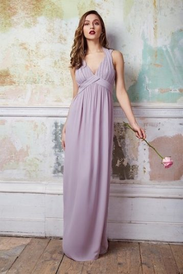 TFNC Arle Lavender Fog Maxi Bridesmaid Dress Lilac Purple