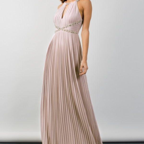 TFNC Avril Mink Embellished Maxi Bridesmaid Dress Blush Pink
