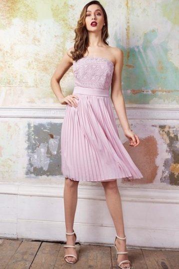 TFNC Kara Mink Midi Dress Mauve Lilac