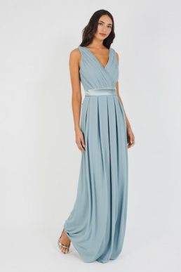TFNC Kily Pale Mauve Maxi Bridesmaid Dress Blue Grey