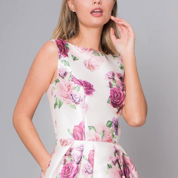 Chi Chi Izi Floral Dress White Multi