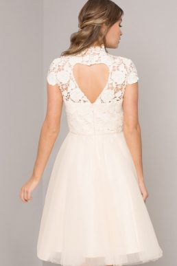 Chi Chi Audra Lace Tulle Dress Ivory