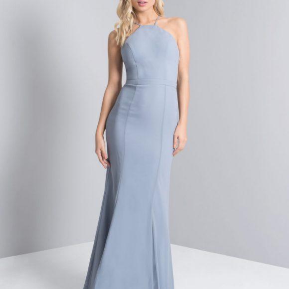 Chi Chi Jenie Maxi Bridesmaid Dress Grey