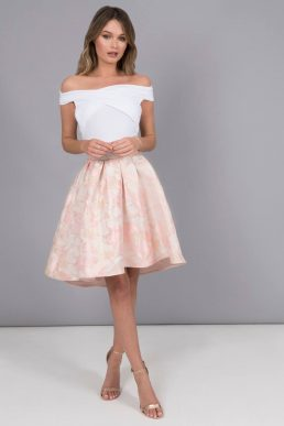 Chi Chi Leann Floral Skirt Pink