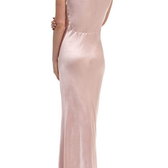 Ghost Pearl Bridesmaid Maxi Dress Boudoir Pink