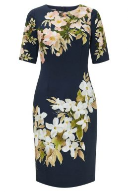 Hobbs Astraea Floral Shift Dress Navy