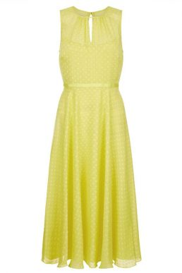 Hobbs Emma Midi Dress Yellow