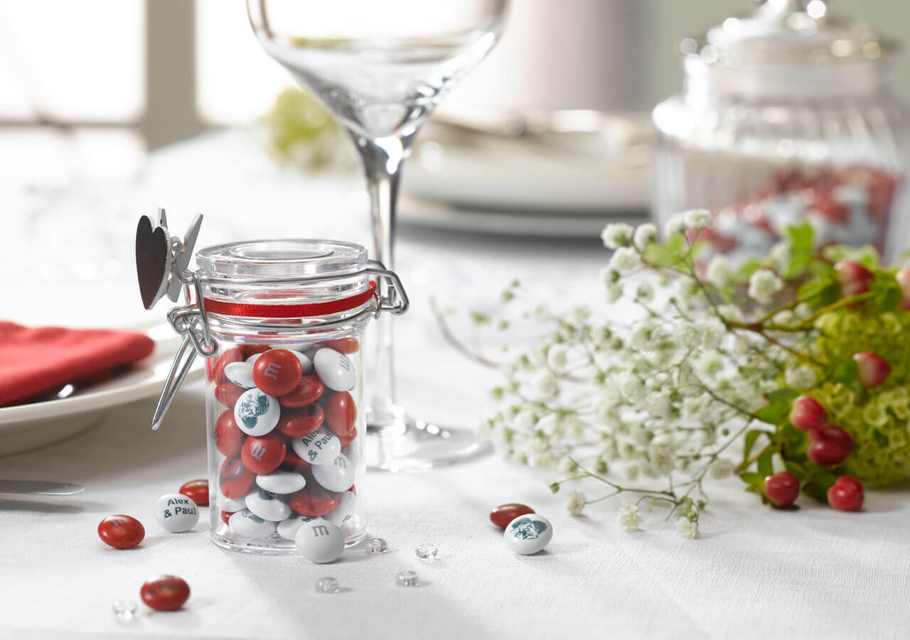 Fine M&m Candy Wedding Favors Composition - The Wedding Ideas ...
